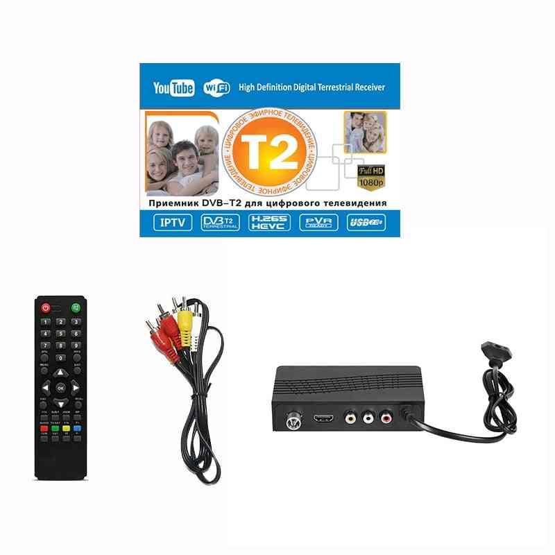 Dvb-t/dvb-t2 Tv Tuner Receiver - Full-hd 1080p Digital Television