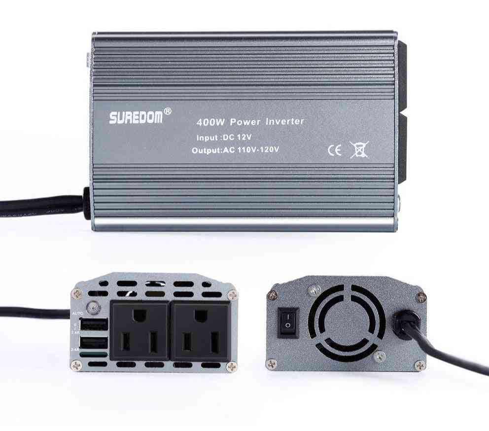 400w, Car Power Inverter With 2 Outlets & 2 Usb Charging Ports
