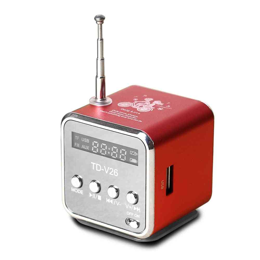Digital Portable Radio Receiver Fm With Usb Spearkers For Pc, Phone And Mp3 Music Player