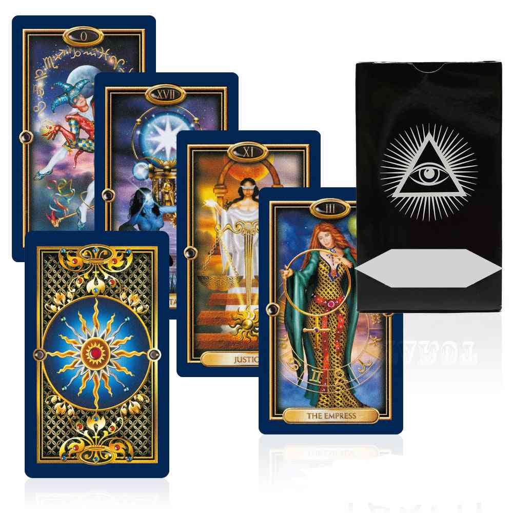 Gilded Tarot Card - Mysterious Gold Art Divination Fate Deck Board Game