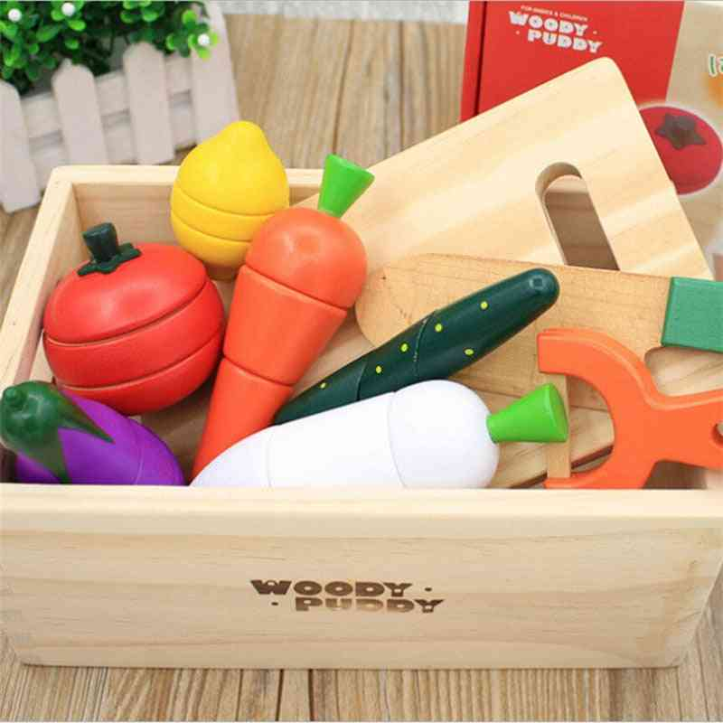 Montessori Cut Fruits And Vegetables Toys Wooden Classic Game
