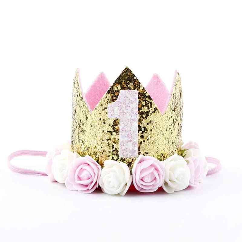 Birthday Hats - 1st / 2nd Year Old  Princess Crown