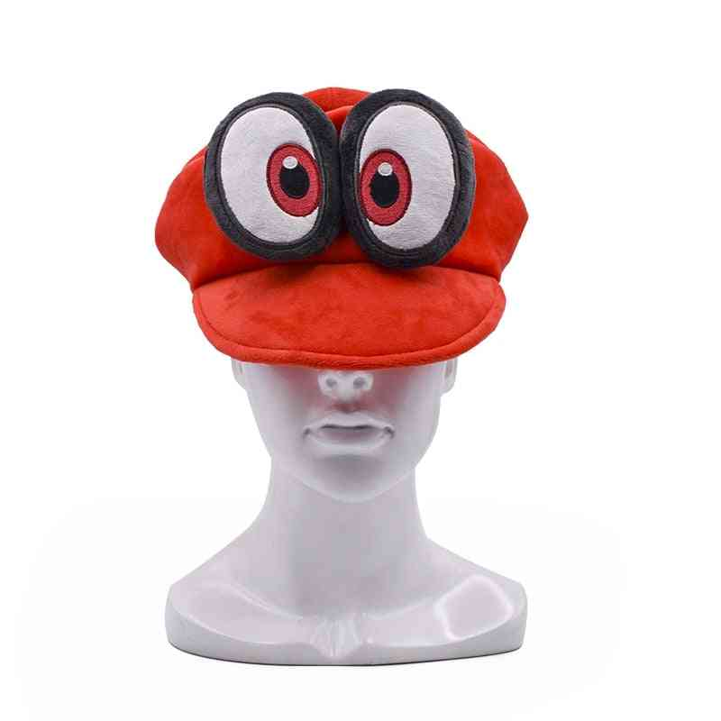 Anime Mario Cosplay Big Eye Red Hat Mario Soft Wearable
