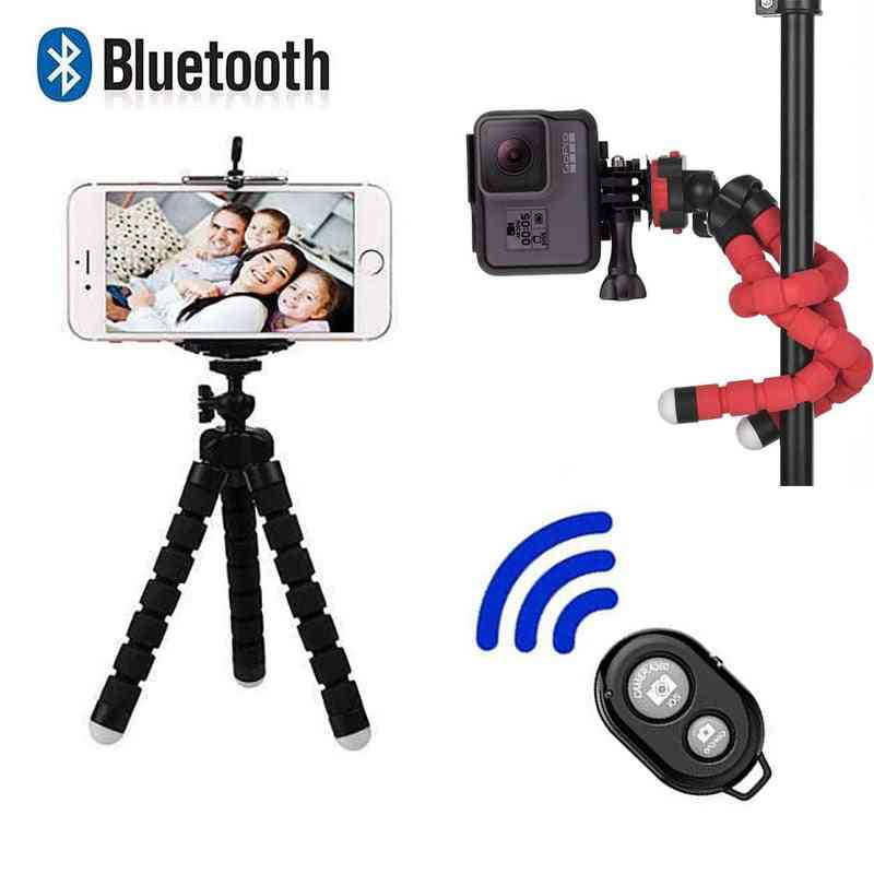 Mini Flexible Sponge Octopus Tripod For Sport Action Video With Bluetooth Remote
