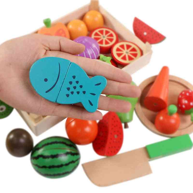 Wooden Classic Game, Cutting Fruit And Vegetable