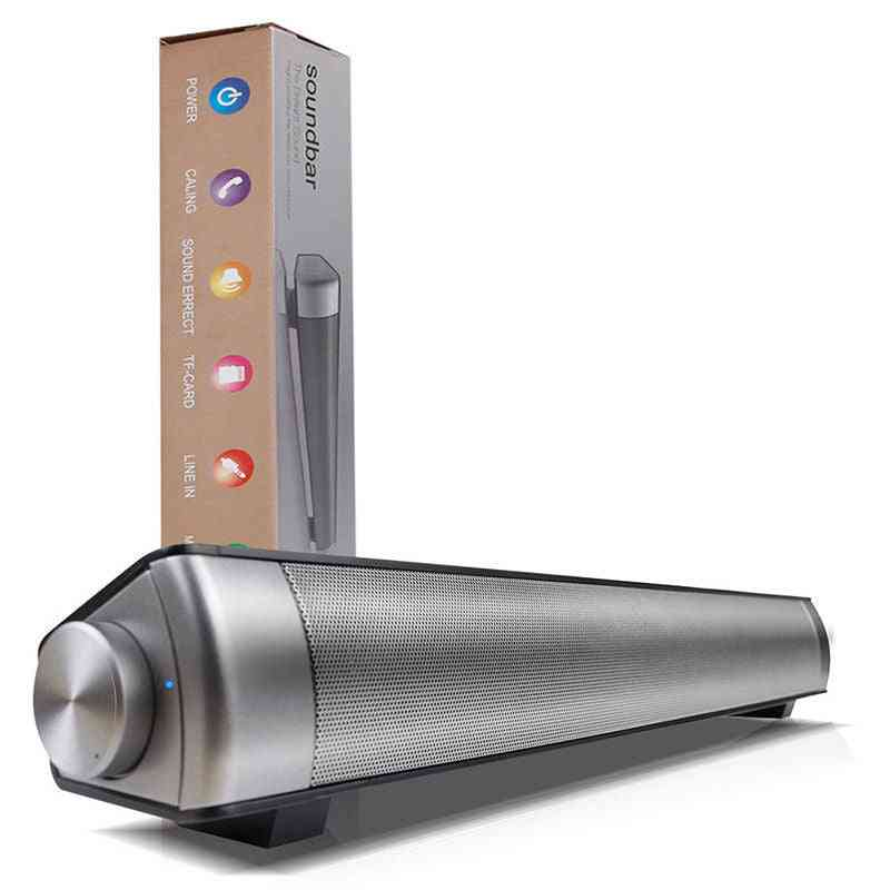 Portable  Bluetooth Soundbar - Wireless Speakers For Home Theater - Surround Sound With Built-in Subwoofers For Tv/pc/phone