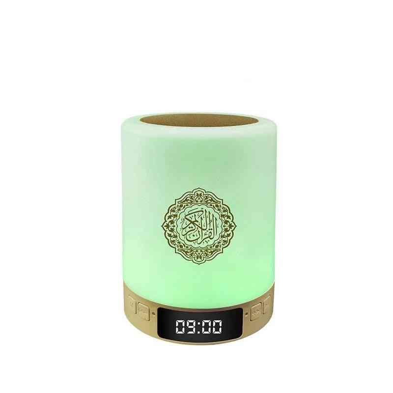 Latest Islamic Quran Speaker With Night Light Touch Lamp And Display Clock Support App Control