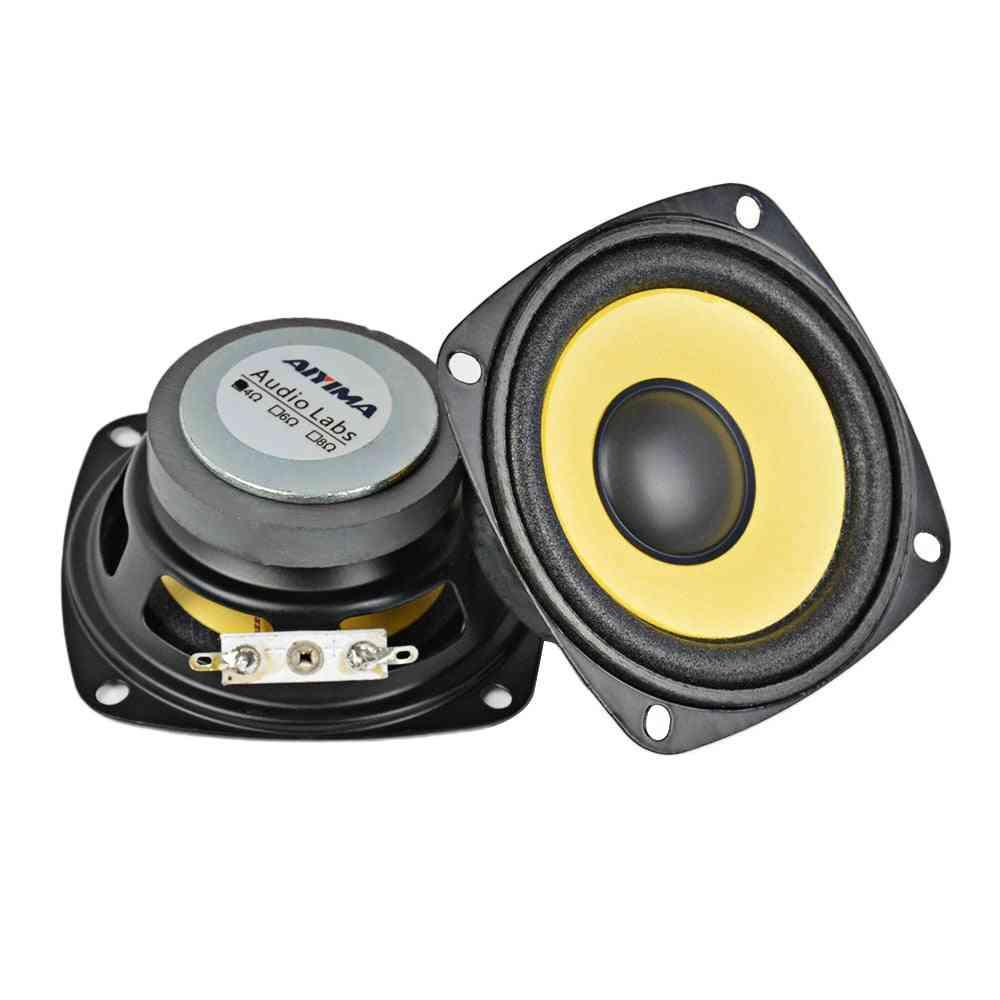 Full Range Gold Foam Edge Speaker - Black Magnetic Multimedia Loudspeaker
