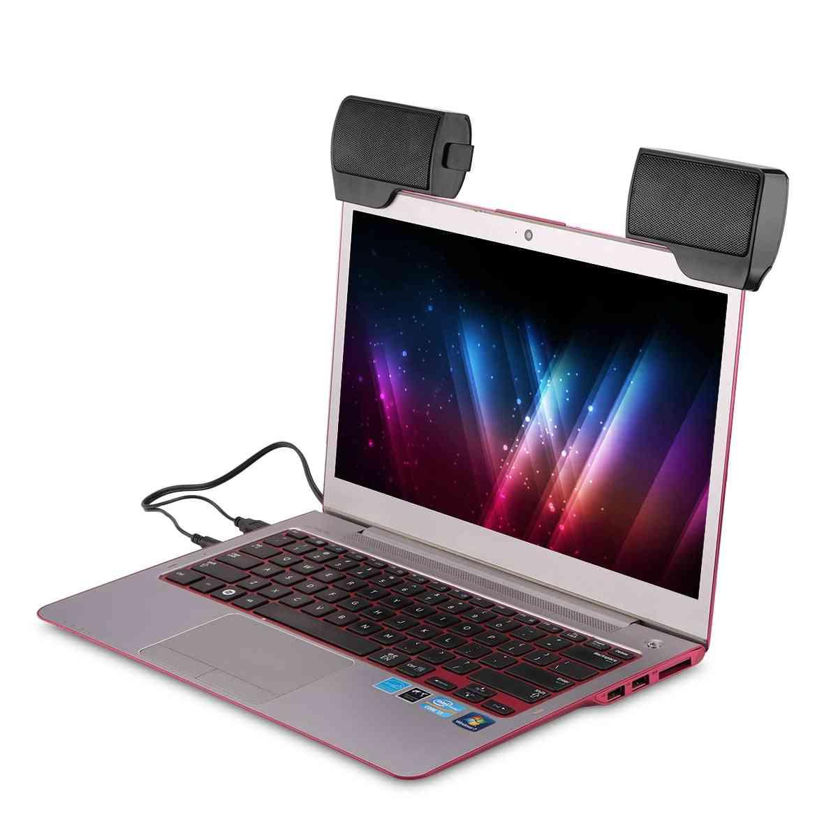 Mini Stereo Speaker, Portable Usb Multimedia Computer Soundbar For Laptop