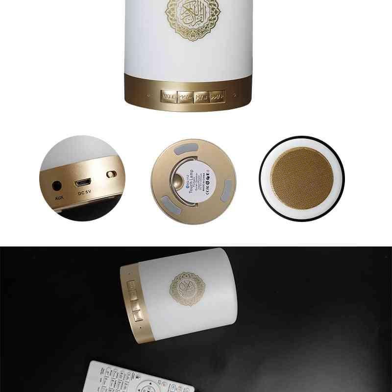 Colorful Usb Fm Radio, Adjustable Small Led Lamp Bluetooth Speaker