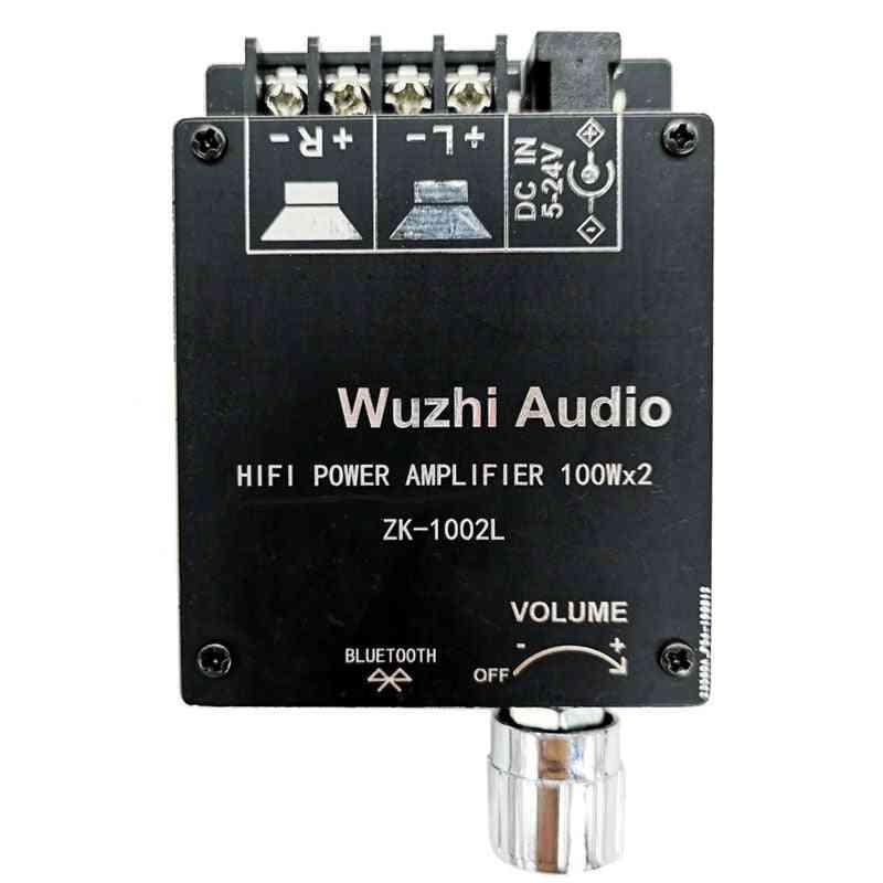 100wx2 Mini Bluetooth 5.0 Wireless Audio Power Digital Amplifier, Amp Dc 12v 24v