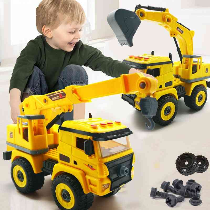 Nut Disassembly Loading Unloading Engineering Truck- Creative Tool Education Toy