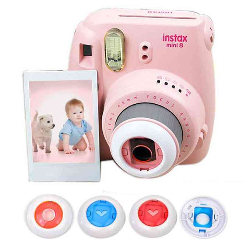 Instant Camera-colorful Filters, Round/heart Shape Hollow Out Close Up Lens