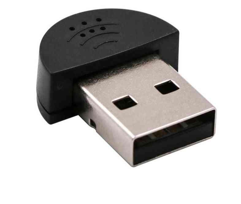 Super Mini Usb 2.0 Microphone-audio Adapter For Laptop/notebook/pc/msn/skype
