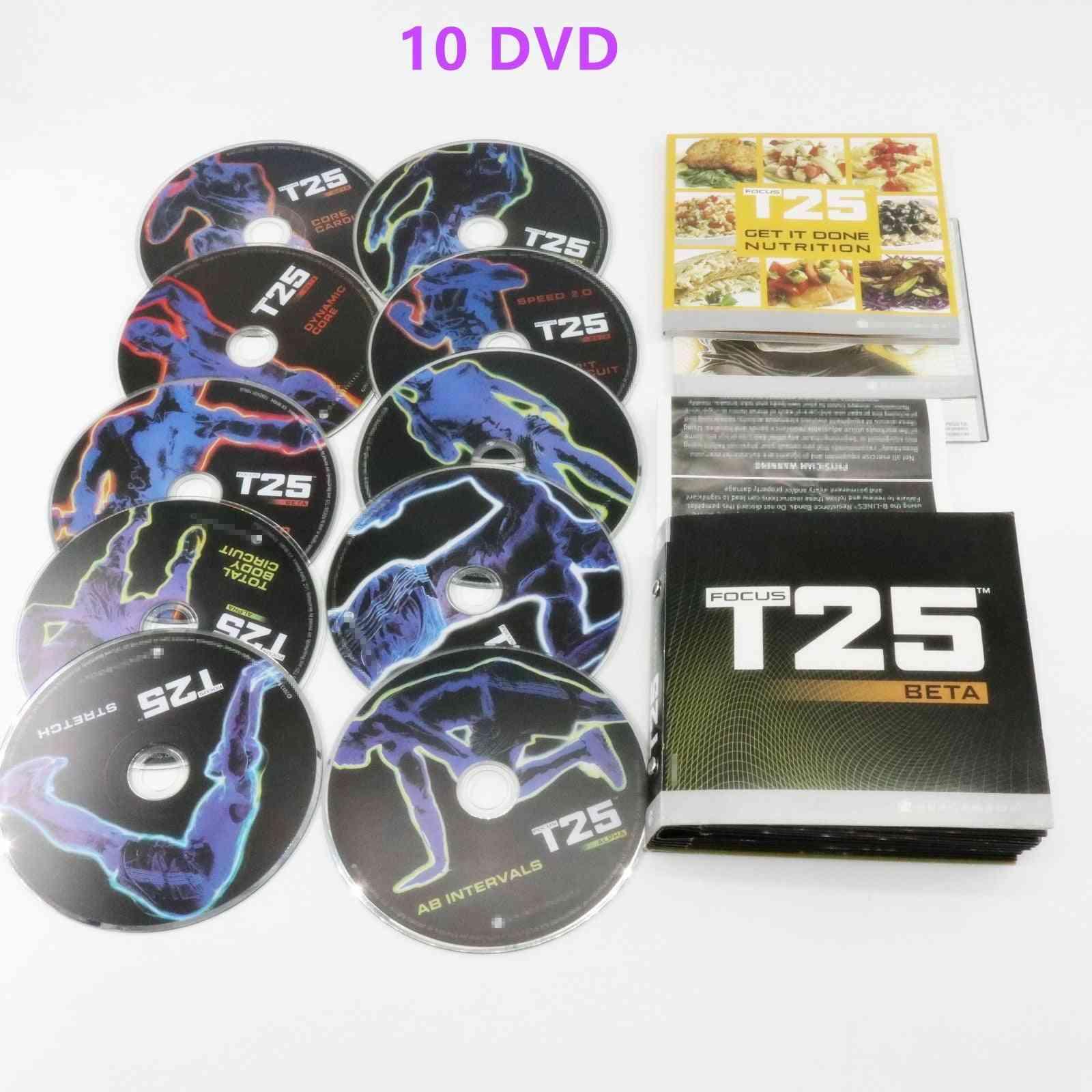 Focus T25 Gamma 4 Disc Fittness Workout Dvd Dvds W/ Calendar 10dvd Or 4dvd