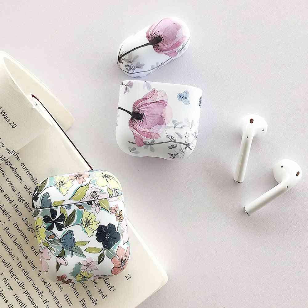 Cute Luminous, Vintage Flower Art Design-apple 1/2 Air Pods Case