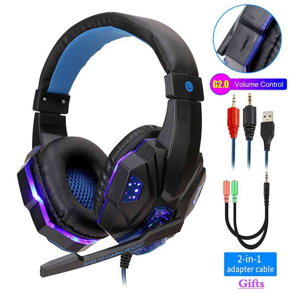 Professional Led Light Gamer Headset For Computer - Ps4 Gaming Headphones