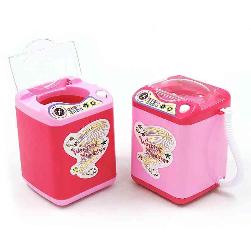 Girls Washing Machine Toy- Mini Electric Dollhouse Housekeeping