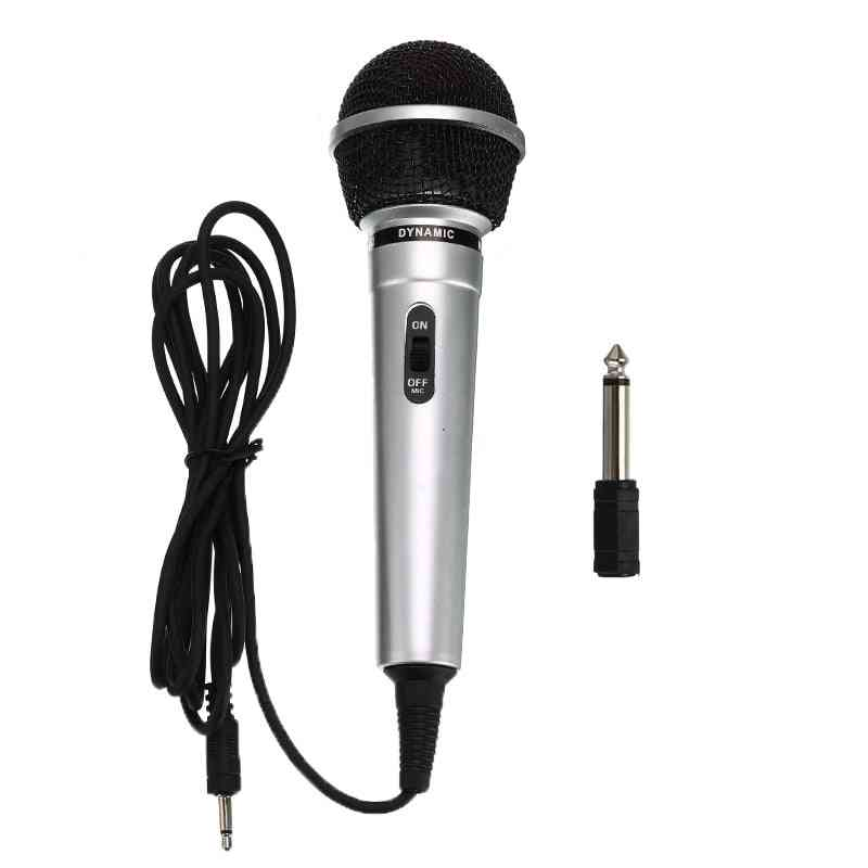 Universal 3.5mm Protable, Wired Microphone With 6.3mm Adapter