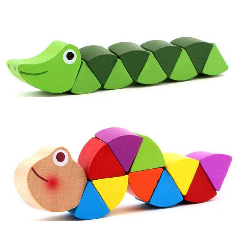 Varied Insects Wooden Blocks For- Animal Puzzles