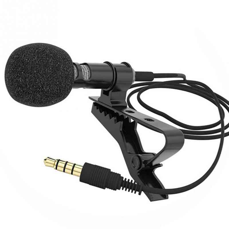3.5mm Collar Clip Microphone For Mobile Phone