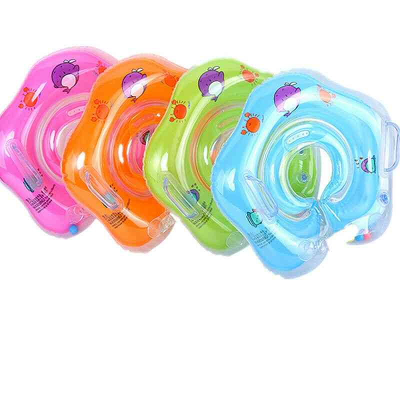 Swimming Baby Pool Inflatable Ring Baby Neck Inflatable Wheels For Newborns Bathing Circle Safety Neck Float