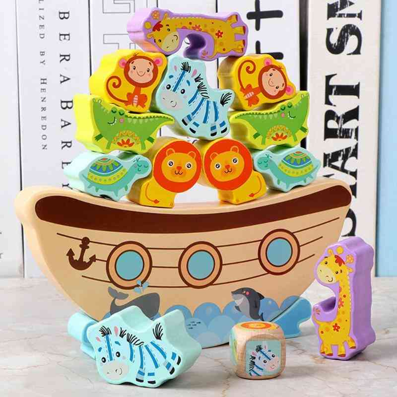 Wooden Building Blocks - Stacking Balance Game Education Toy