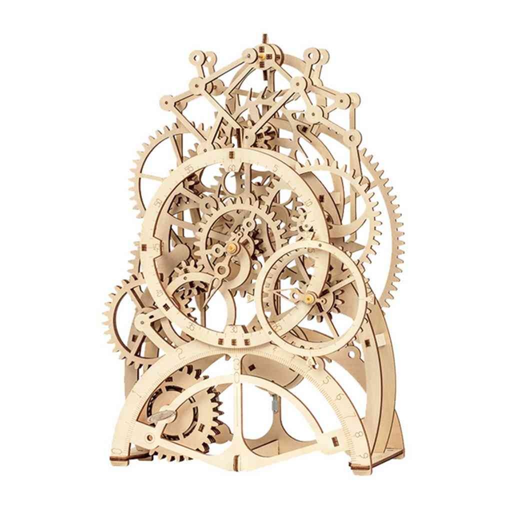 Laser Cutting 3d Mechanical Model - Wooden Puzzle Game Assembly Toy