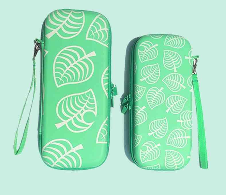 Leaf Pattern, Portable And Hard Storage Bag For Nintendo Switch Lite
