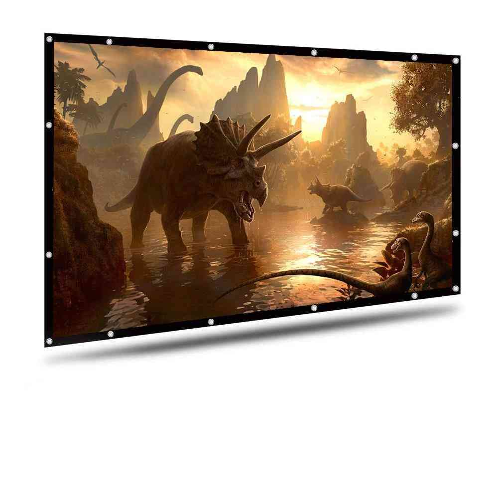 100/120 Inches 16:9 Projector Screen For Polyester - Home Projection Screen