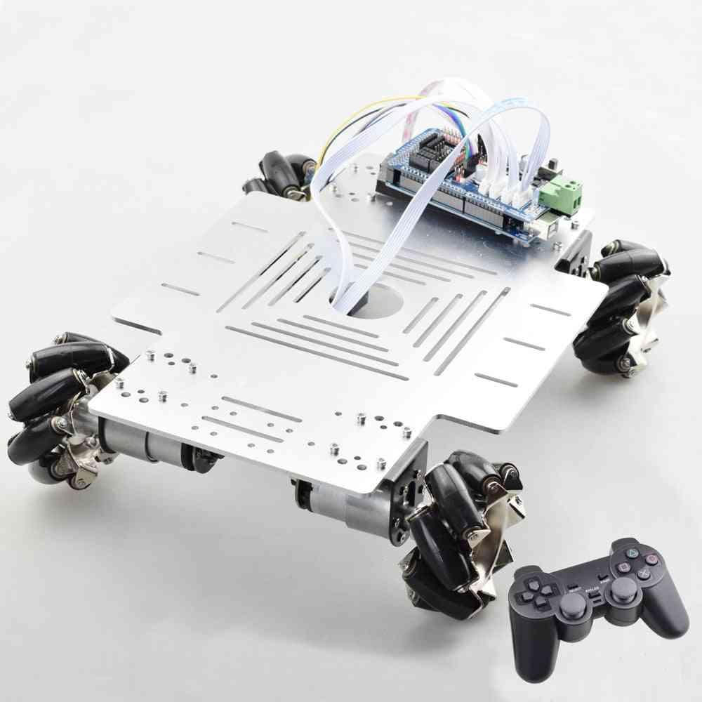 20kg Big Load Smart Rc Mecanum Wheel Robot Car Chassis Kit Omni Platform With Ps2 Mega2560 Controller For Arduino Project (1 Set Rc Robot)