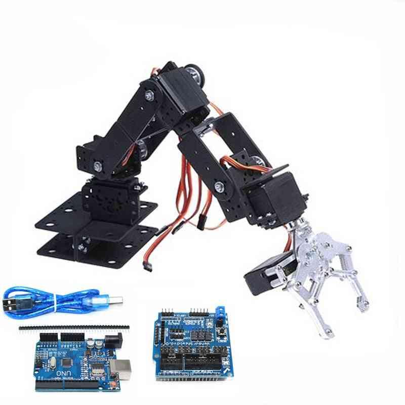 Robot Arm Manipulator With Arduino Control -servos Metal Gripper