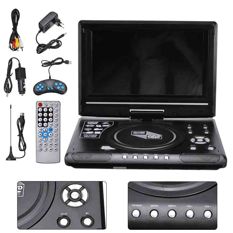 Car Lcd Dvd Player Display, Game Tv Player, Hd 9.8 Inch Mp3 Usb Radio Adapter Multilingual Support