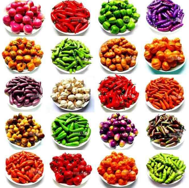10 Pcs/set Miniature Fruit, Vegetable, Kitchen Artificial Fake, Eggplant, Cucumber, Apple Home Decor Kitchen Toy For