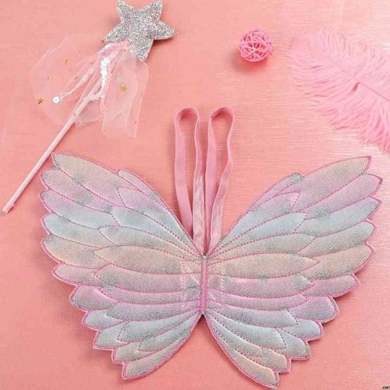 Cute Costumes Props- Gradient Color, Angel Butterfly Wings With Fairy Stick
