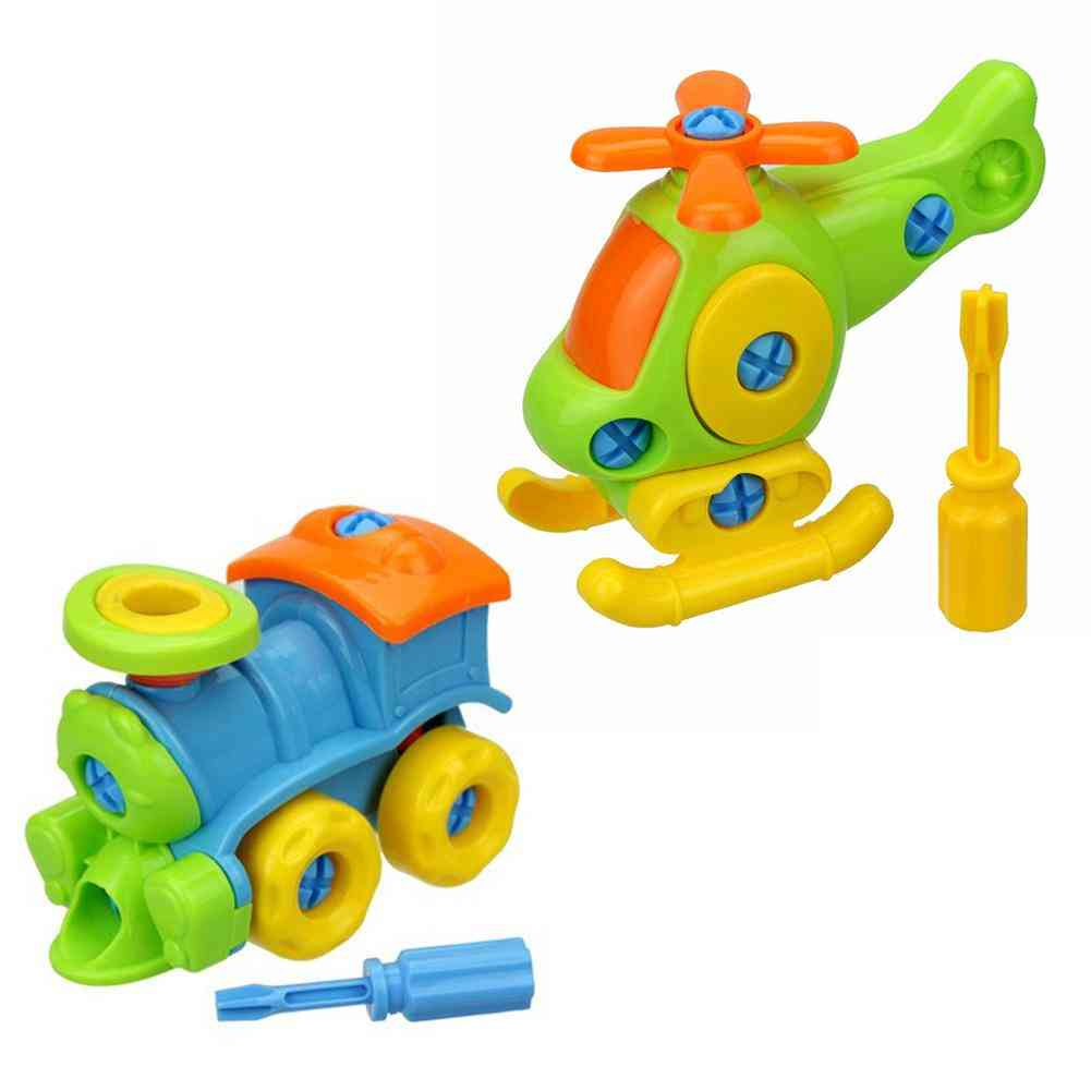 Kids Early Learning Airplane Disassembly-assembly Puzzle-educational - Helicopter