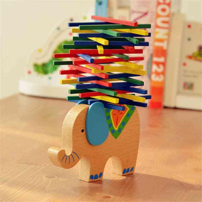 Wooden Building-blocks Balance Toy, Domino Stacker