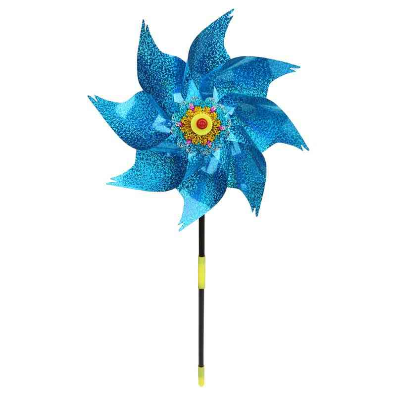 1pc Wind Spinner Windmill, Kids, Garden Decoration Rotation Glitter Sequin Windmills Glow Colorful Toy