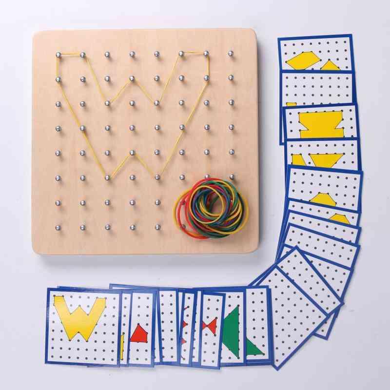 Montessori Intelligence Kids Toy ,wooden-jigsaw Tangram For