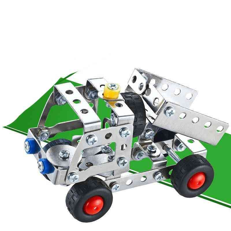 3in1 City Engineering Car Truck Alloy Metal, Disassembly Building Block With Tool