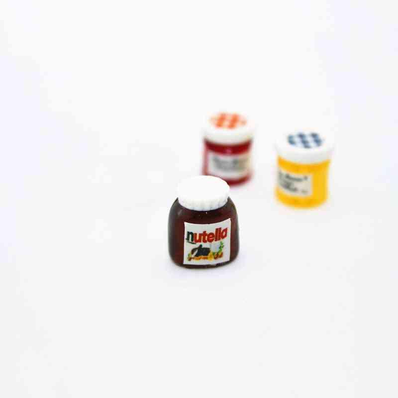 Diy Dollhouse Miniatures Casa Boneca Salad Jam Coffee Ketchup Bottle