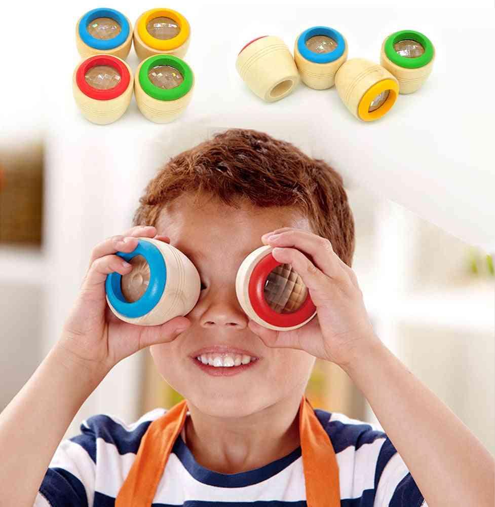 Wooden Educational Magic Kaleidoscope - Baby Kid Learning Puzzle Toy