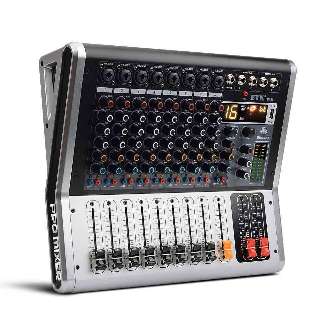 Ea80 8 Channel Mixing Console With Mute And Pfl Switch Bluetooth Record
