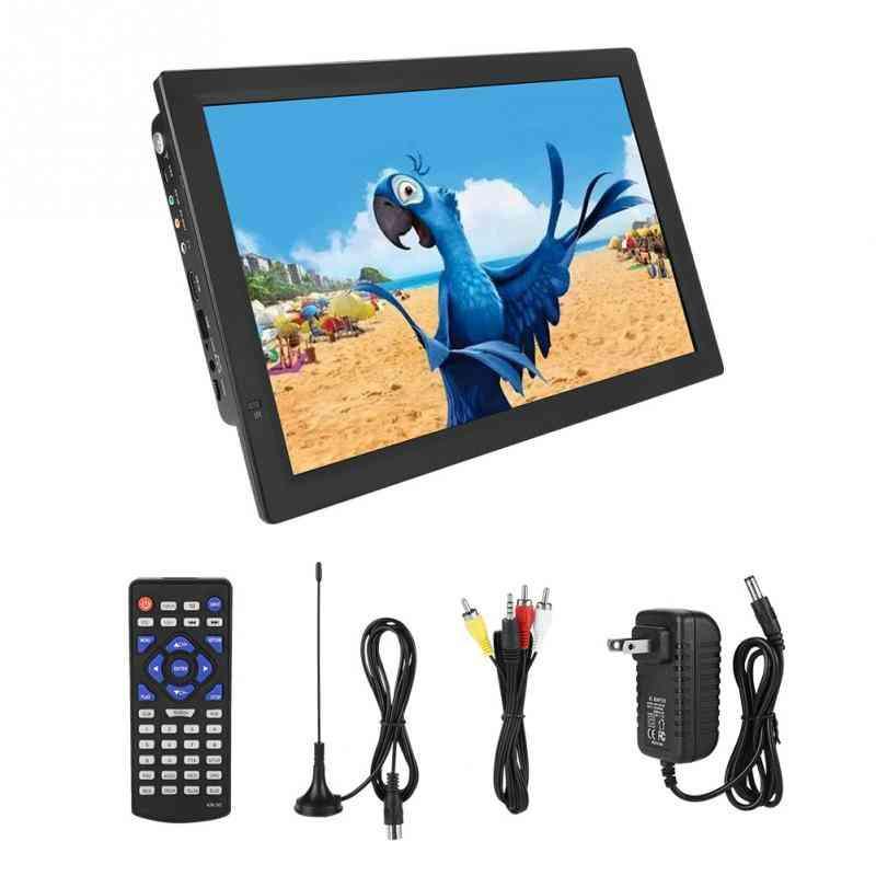14 Inch Dvb-t2 Digital Tv, American Portable Tv -support Aanalog Tv And Atv With Usb Sd/mmc Card Slot 110-120 V