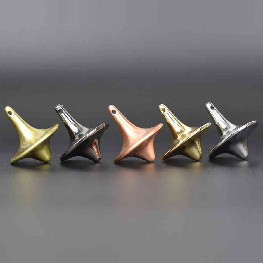 Metal Spinning Top For Adult, Antistress Gyroscope Office Party Game Favor Spin Top Spinner Gyro Toy