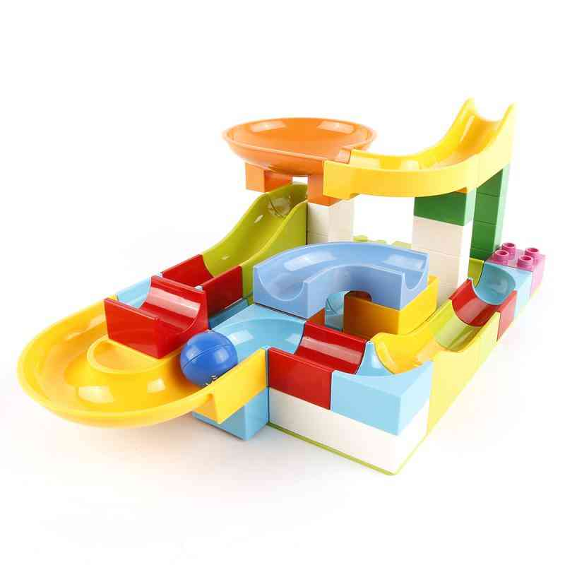 Marble Race Building Blocks Run Track Compatible With Legoe For
