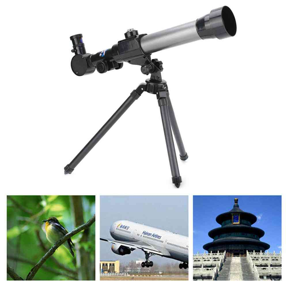 Astronomical Telescopes Nature Science Toy For Kids, Beginners With Tripod 20x 30x 40x Magnification Eyepieces