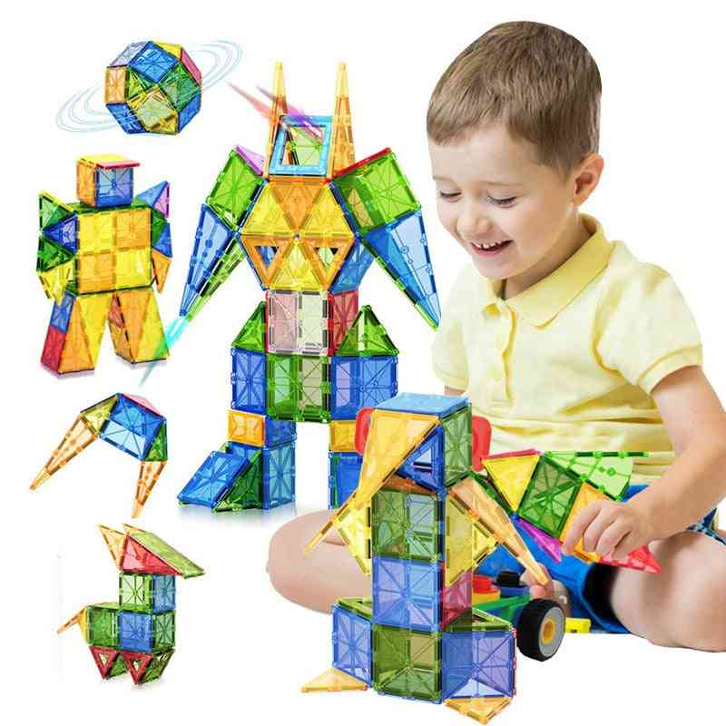 Tile Magnetic Building Blocks Bricks- Educational