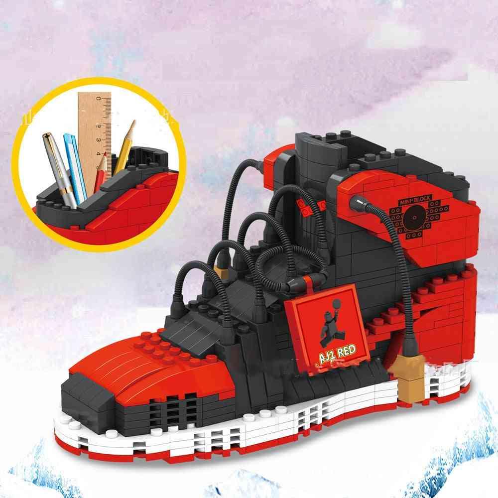 474pcs Sports Shoes Building Block Pencil-box Toys For
