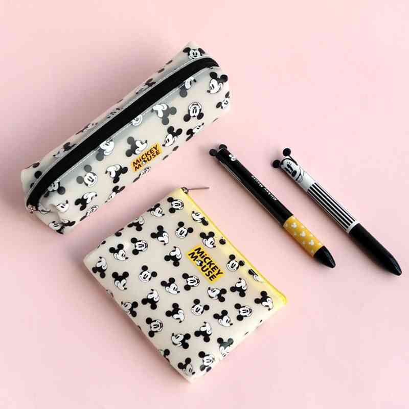 Mickey Mouse Printed, Portable Coin Purse And Pencil Storage Pouch